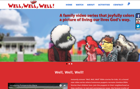 Well Well Well website designed for David and Yvonne Roller