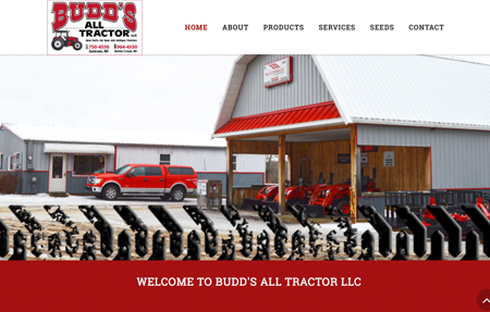 website design for Budds All Tractor