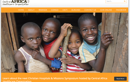 website design for Central Africa Healthcare Organization