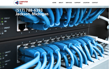 website design for Computer Ties
