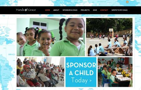 website design for Hands of Grace