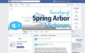 spring arbor township website design Facebook page jackson michigan