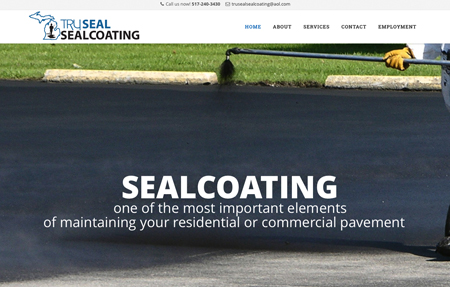 website design for Truseal Sealcoating