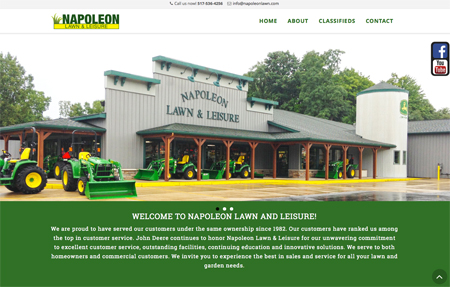 Napoleon Lawn and Leisure website screenshot
