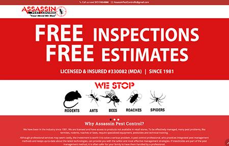 Assassin Pest Control website