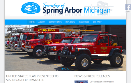Spring Arbor Township website screenshot