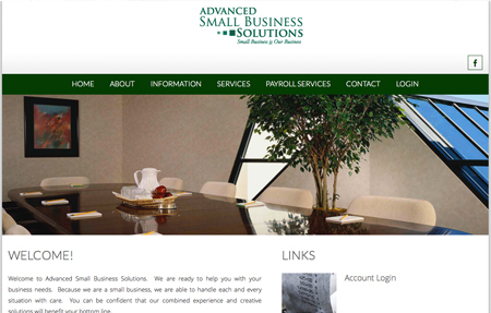 website design for Advanced Small Business Solutions