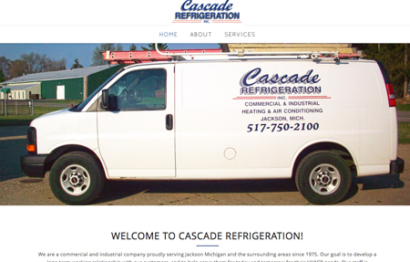 website design for Cascade Refrigeration