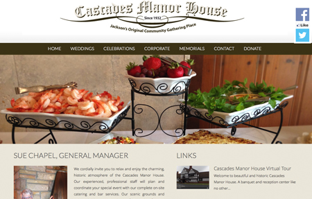 website design for Cascades Manor House