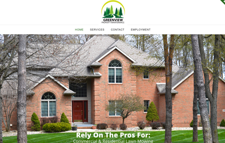 website design for Greenview property maintenance