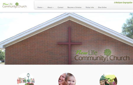 website design for New Life Community Church