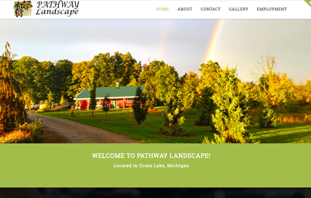 website design for Pathway Landscape