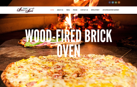 website design for Slice of Spice