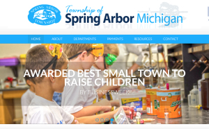 spring arbor township website design jackson michigan