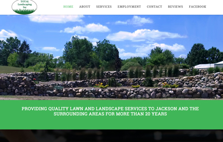 website design for Total Landscaping