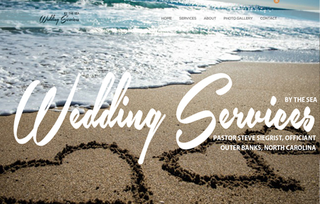 website design for Wedding Services Outer Banks