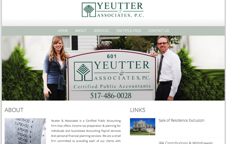 website design for Yeutter and Associates