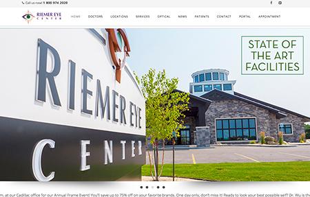 riemer eye center website design